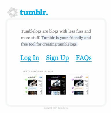 Tumblr 2007