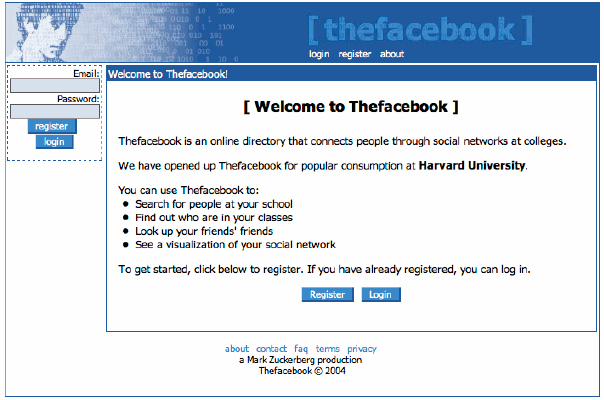 TheFacebook 2004