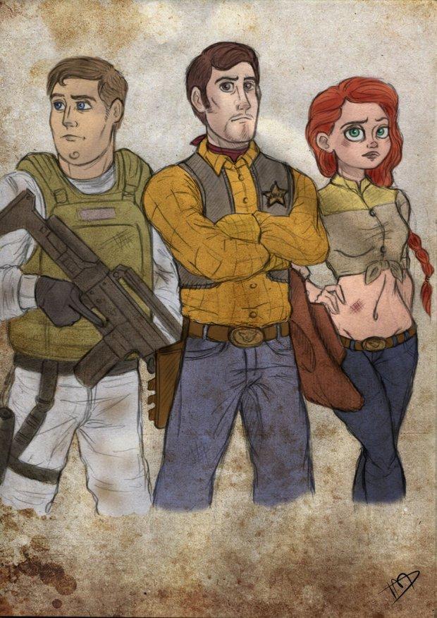 Woody, Buzz y Jessie