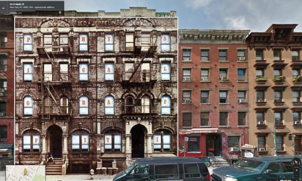 Physical Graffiti por Led Zeppelin, tomada en los bloques residenciales de East Village en St Mark's Place en la ciudad de Nueva York.