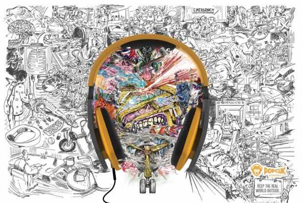 PopClik Headphones: Iron Maiden