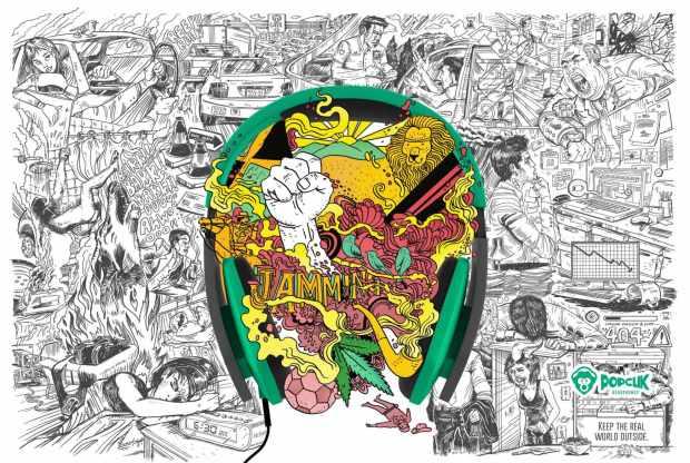 PopClik Headphones: Bob Marley