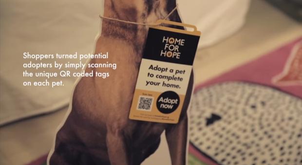 Los compradores se  convierten en potenciales dueños, simplemente deben escanear el código QR de cada mascota